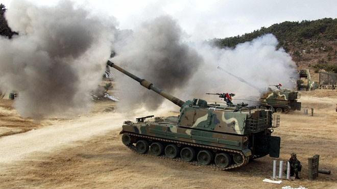 Pháo tự hành K9, một trong những vũ khí bộ binh mạnh nhất của Hàn Quốc. Ảnh: Moddb