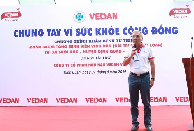 Ông Yang Kun Hsiang, Phó chủ tịch HĐQT kiêm Tổng giám đốc Công ty CPHH Vedan Việt Nam phát biểu khai mạc