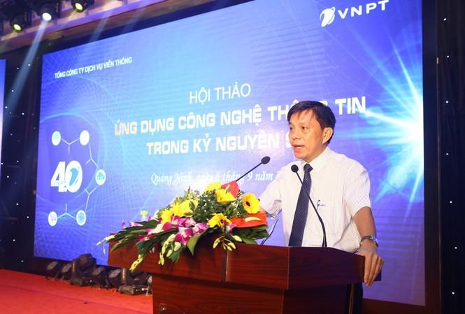 Phó Tổng Giám đốc VNPT VinaPhone, ông Lương Hồng Khanh phát biểu khai mạc hội thảo
