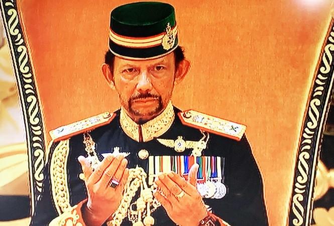 Quốc vương Hassanal Bolkiah tại lễ sinh nhật lần thứ 73
