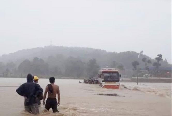 Thanh Hóa nhiều nơi lại ngập lụt, thiệt hại do mưa bão số 4