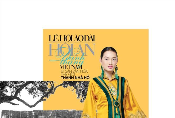 Mẫu của NTK Lan Hương, lấy cảm hứng từ Di sản Thế giới Thành nhà Hồ