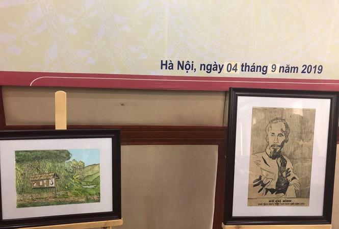 Bức chân dung Chủ tịch Hồ Chí Minh bằng chất liệu giấy dó được vẽ cách đây hơn 70 năm.