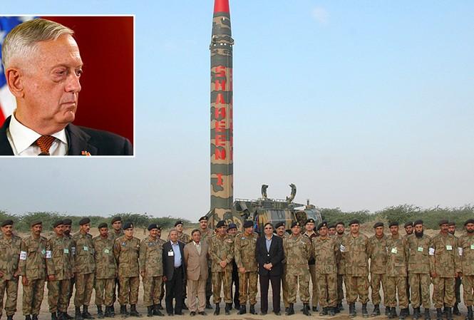 James Mattis lo ngại về sự phát triển vũ khí tại Pakistan. Ảnh: Reuters