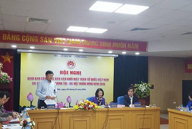 Bí thư thứ nhất Trung ương Đoàn Lê Quốc Phong phát biểu tại hội nghị