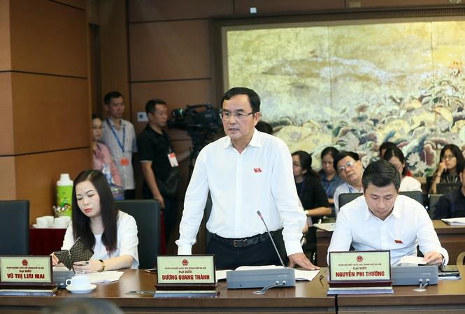 Đại biểu Quốc hội, Chủ tịch EVN Dương Quang Thành. Ảnh Như Ý