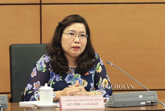 Bà Hồ Thị Cẩm Đào, Trưởng Ban Dân vận, Trưởng đoàn ĐBQH tỉnh Sóc Trăng