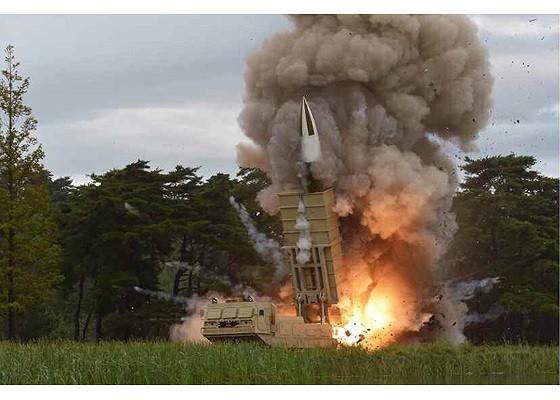 Vụ thử tên lửa Triều Tiên hôm 16/8. Ảnh: KCNA