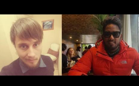 John Bothma (trái) và Mushfiq Daniels (phải) đều là giáo viên dạy tiếng Anh trước khi biến mất ở Việt Nam. Ảnh: EWN.