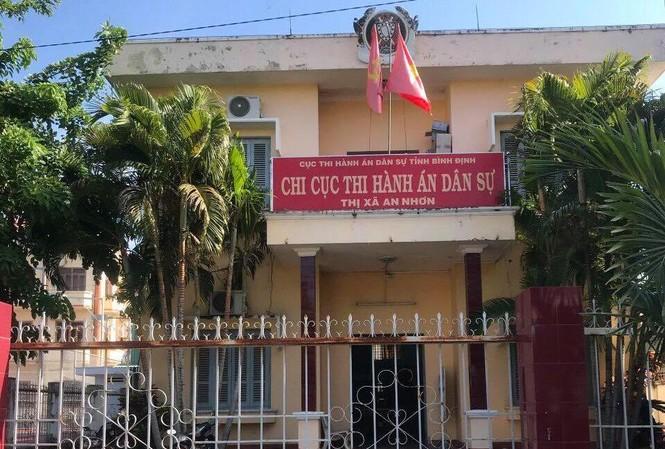 Chi Cục thi hành án dân sự thị xã An Nhơn (Bình Định).