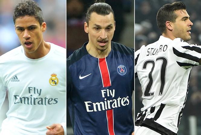 """Mourinho đã """"chấm"""" Ztalan Ibrahimovic, Stefano Sturaro và Raphael Varane."""