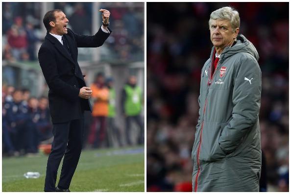 """HLV Allegri lên tiếng về chuyện """"chiếm ghế"""" của Wenger."""
