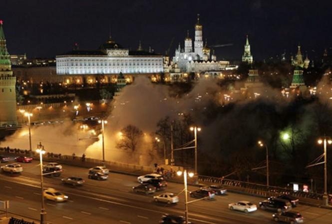 Khói mịt mù bao phủ thủ đô Moscow của Nga
