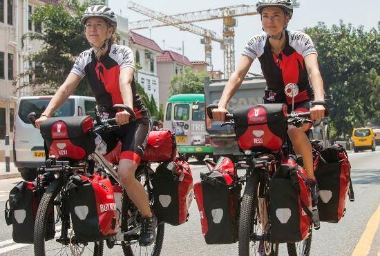 Ness va Vicky trong cuộc hành trình đạp xe vòng quanh châu Á.