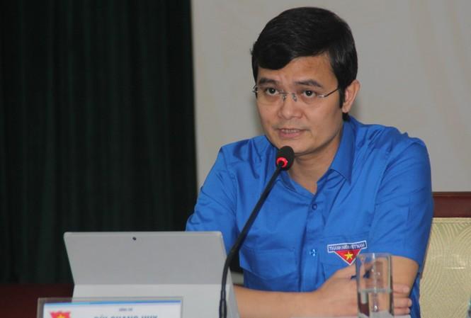 Anh Bùi Quang Huy, Bí thư Trung ương Đoàn, Chủ tịch Trung ương Hội Sinh viên Việt Nam tại Hội nghị.