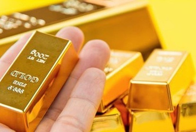 Giá vàng trong nước giảm mạnh phiên đầu tuần. Ảnh minh họa
