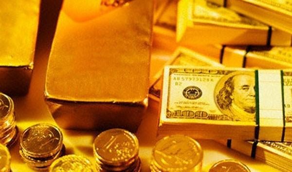Giá vàng đầu tuần tăng phi mã, USD mất giá. ảnh minh hoạ
