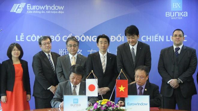 Công ty Bunka Shutter (Nhật Bản) đã trở thành cổ đông lớn và đối tác chiến lược của Eurowindow