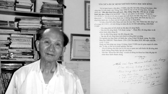 Nhà giáo ưu tú Châu An và bức thư tâm huyết gửi về báo Khoa học & Đời sống