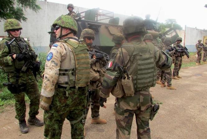Binh lính được triển khai tại Bangui hôm 19/1