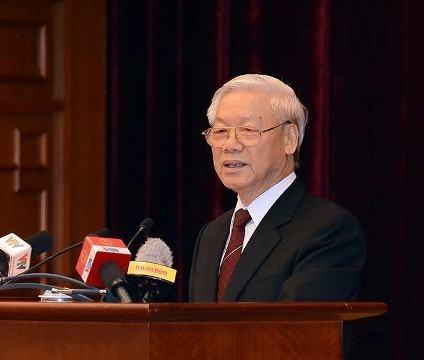 Tổng Bí thư Nguyễn Phú Trọng phát biểu tại lễ kỷ niệm. Ảnh: Duy Linh/Báo Nhân Dân