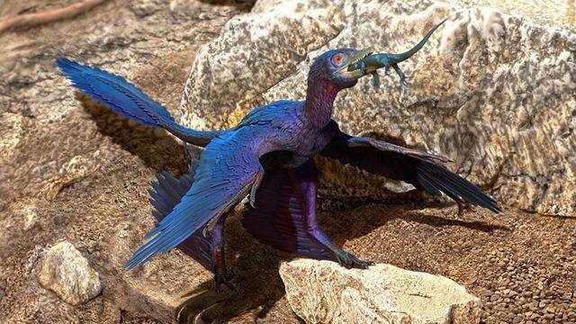 Hình ảnh loài khủng long có cánh nhỏ được mô tả.