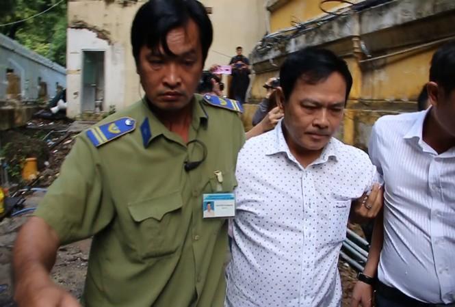 Ông Nguyễn Hữu Linh tại tòa sáng nay. Ảnh: Tân Châu