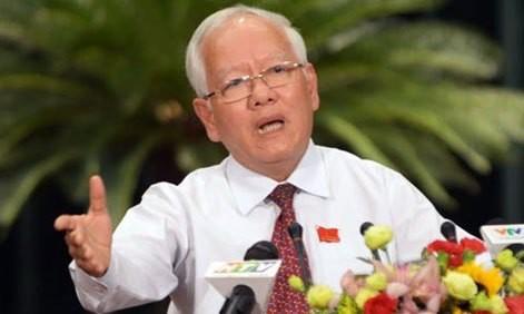 Ông Lê Hoàng Quân trong ngày HĐND TPHCM miễn nhiệm chức Chủ tịch UBND TPHCM. Ảnh: Tiền Phong.