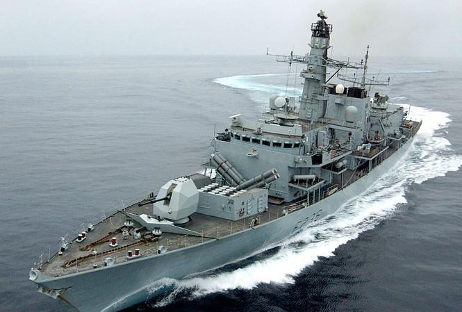 Tàu HMS Montrose của Anh. (Ảnh: Wikipedia)
