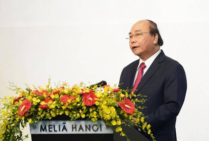 Thủ tướng Nguyễn Xuân Phúc phát biểu tại tiệc chiêu đãi. (Ảnh: Quang Hiếu)