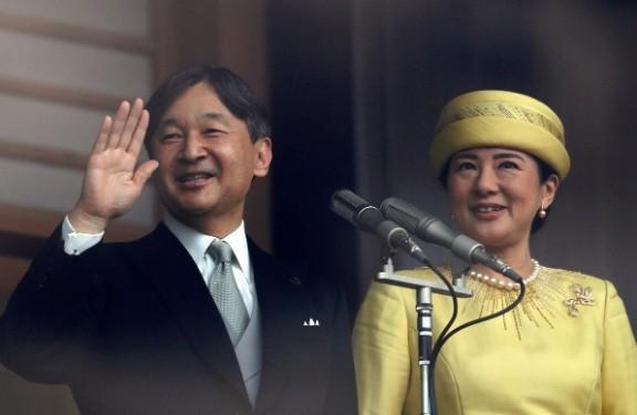 Nhà vua Nhật Bản Naruhito và Hoàng hậu Masako. (Ảnh: Reuters)