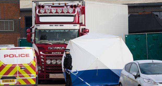 Chiếc xe tải của hãng GTR bị phát hiện chở 39 người thiệt mạng