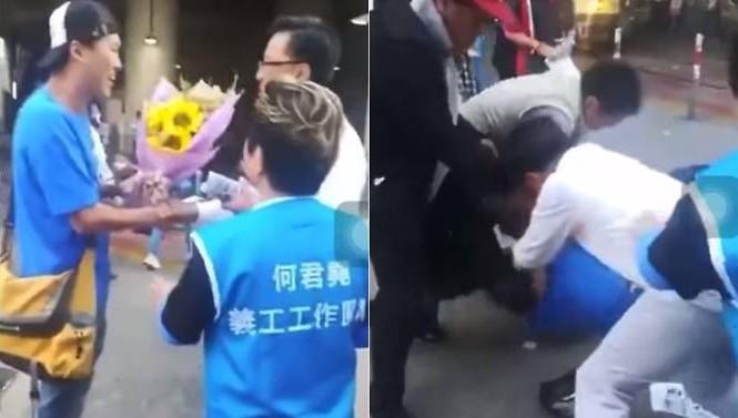 Ảnh cắt từ đoạn phim ghi lại khoảnh khắc xảy ra vụ tấn công