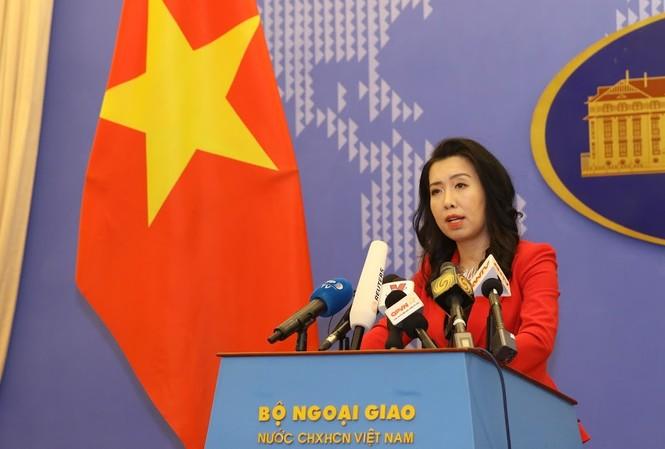 Người phát ngôn Bộ Ngoại giao Việt Nam Lê Thị Thu Hằng. Ảnh: Như Ý