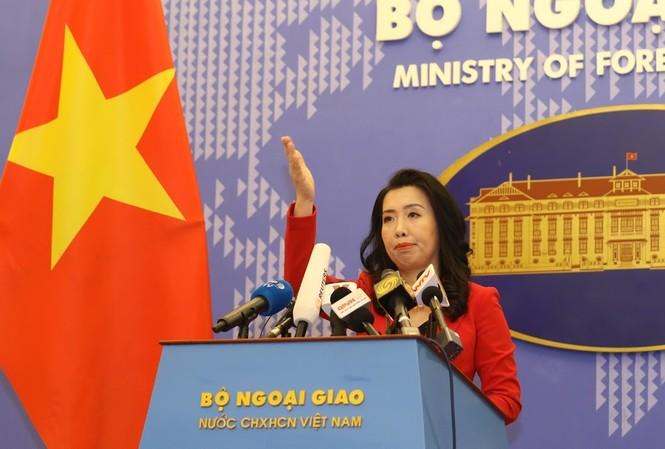 Người Phát ngôn Bộ Ngoại giao Việt Nam. Ảnh: Như Ý
