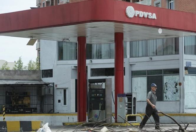 Một cây xăng bị bỏ không của PDVSA ở San Cristobal, Venezuela. (Ảnh: Reuters)