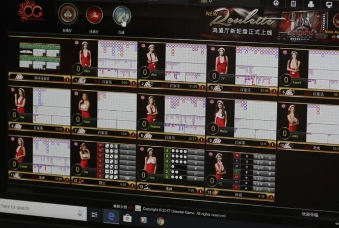 Một trang đánh bạc trực tuyến ở Philippines nhắm vào người Trung Quốc. (Ảnh: SCMP)