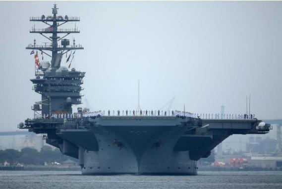 Tàu sân bay Mỹ USS Nimitz. (Ảnh: Reuters)