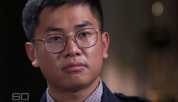 """Wang """"William"""" Liqiang trong cuộc trả lời báo đài Úc. (ảnh: Youtube)"""