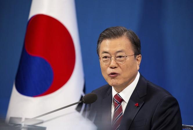 Tổng thống Hàn Quốc Moon Jae-in. (Ảnh: AP)