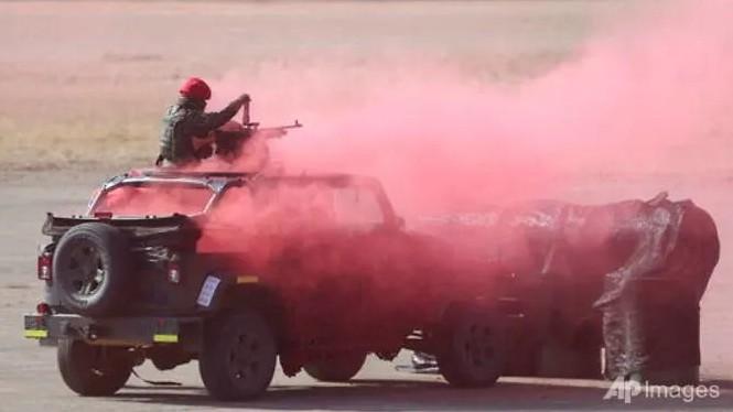 Binh lính Đài Loan tham gia cuộc diễn tập. (Ảnh: AP)