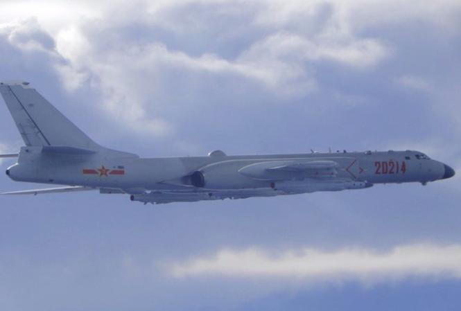 Hình ảnh do Đài Loan cung cấp cho thấy một máy bay ném bom H-6 của Bắc Kinh bay gần vùng nhận diện phòng không của Đài Loan vào tháng 9/2020