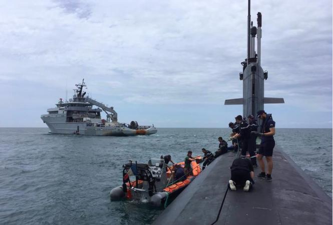 Tàu ngầm hạt nhân Pháp thưc hiện một chuyến đi đến Biển Đông gần đây. (Ảnh: Twitter)
