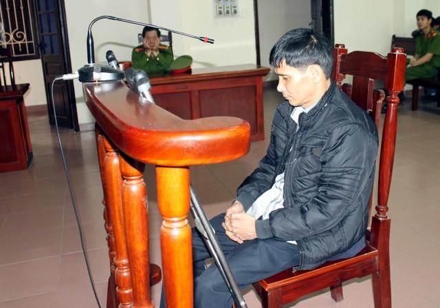 Bị cáo Điệp tại phiên tòa