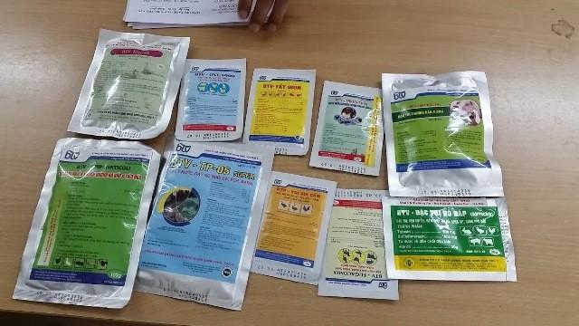 Nhiều thú y của Cty BTV sản xuất tại tại xưởng ở Biên Giang, Hà Đông bị niêm phong, không được phép tiêu thụ trên thị trường. (Ảnh: Phạm Anh)