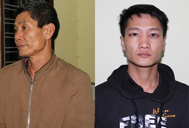 Hai đối tượng Thanh, Trường tại cơ quan công an. Ảnh: Công an tỉnh Hưng Yên