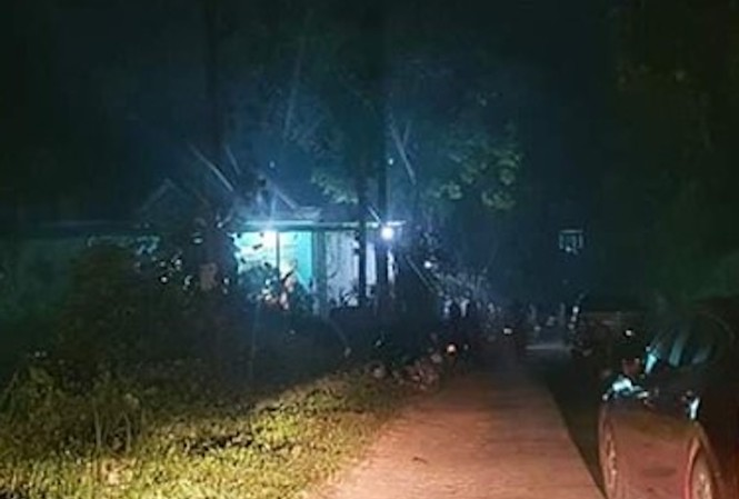 Khu vực gần ngôi nhà nơi xảy ra sự việc.