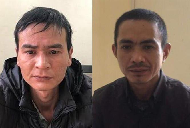 Hai nghi can Trung, Quân trong vụ án.