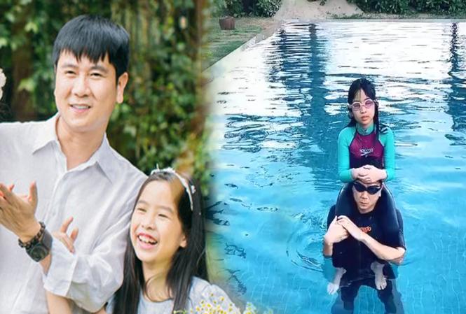 Hú hồn với cách dạy con học bơi của Hồ Hoài Anh