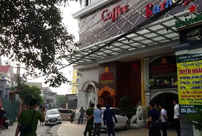 Karaoke Quán Lau nơi xảy ra vụ hỗn chiến.